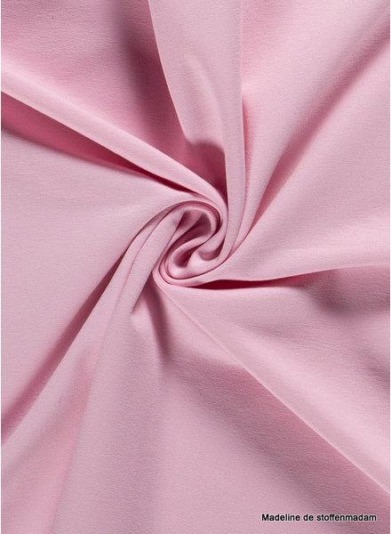 roze - effen french terry oeko tex