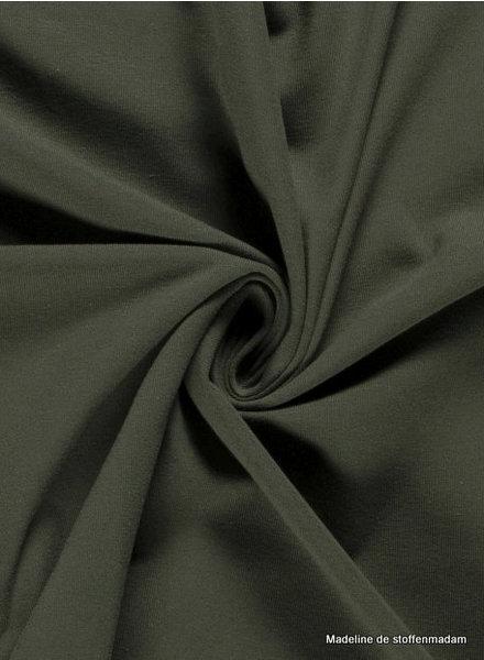 khaki 126 - effen tricot