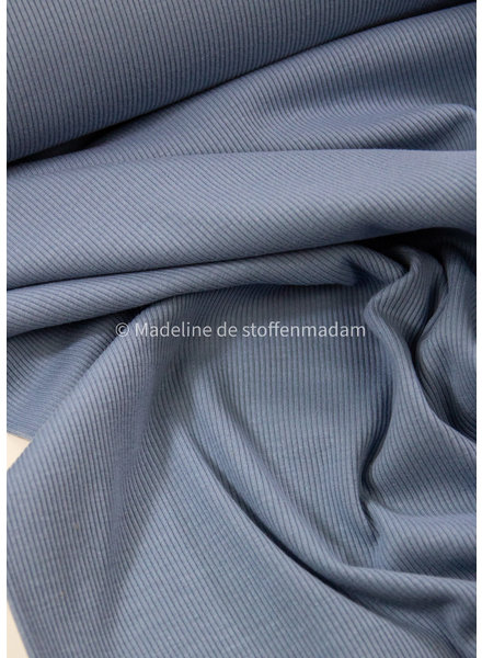 Ottoman tricot - blauw