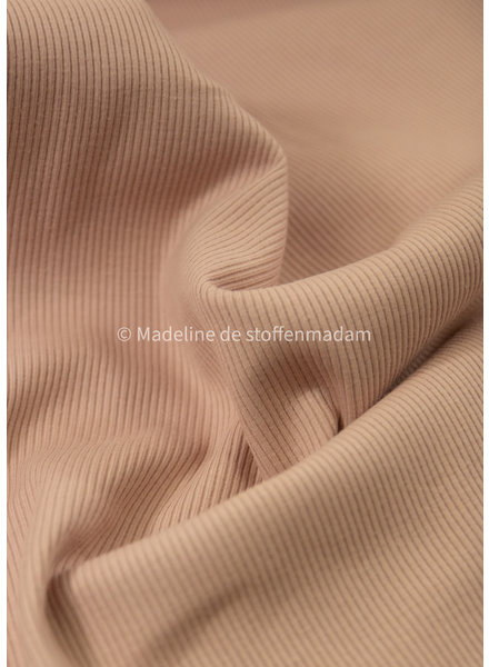 Ottoman tricot - zacht roze