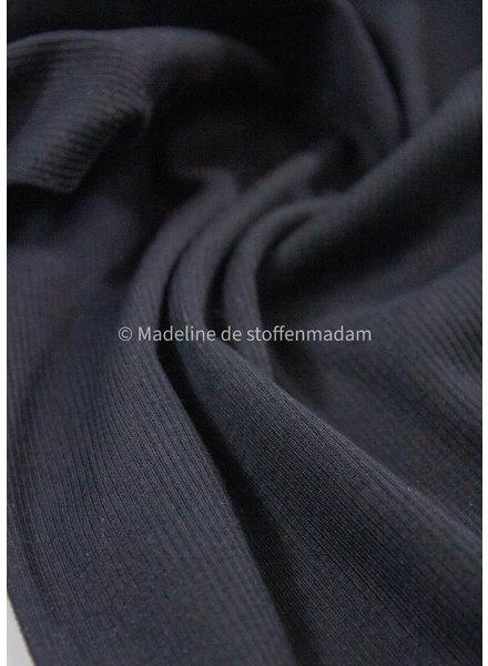 Ottoman tricot - zwart