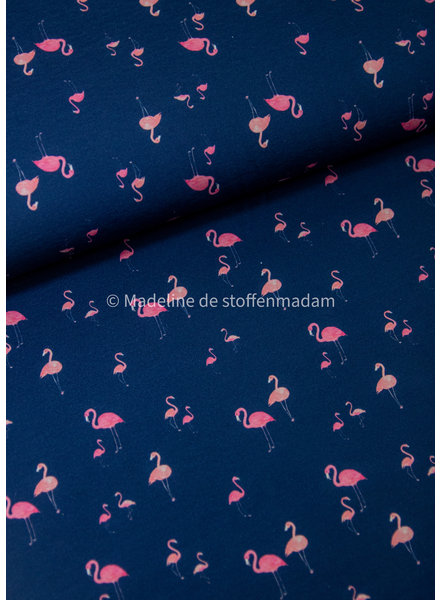mini flamingo - blauw - tricot