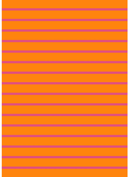 orange and pink stripes - organic french terry