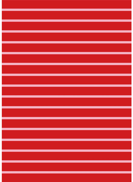 red and pink stripes - organic french terry