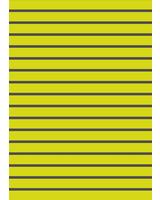 neon geel met grijs gestreept - organic french terry