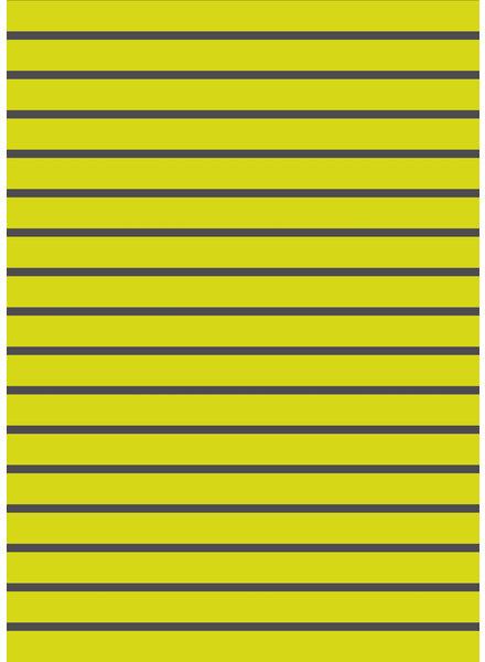 neon yellow grey - organic french terry