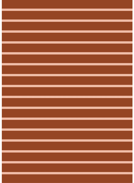 copper and powder pink stripes - organic french terry