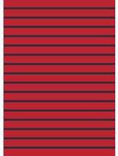 red and blue stripes - organic french terry