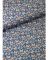 blue pastel butterfly - tricot