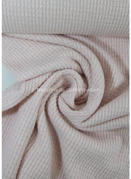 pink - soft knitted viscose waffle structure