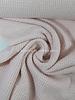 roze - zacht gebreide viscose met wafelstructuur