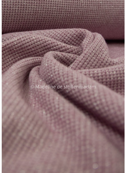 lila- soft knitted viscose jacquard with lurex