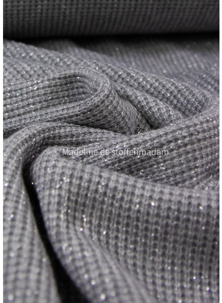 grey- soft knitted viscose jacquard with lurex