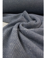 blue - soft knitted viscose jacquard with lurex