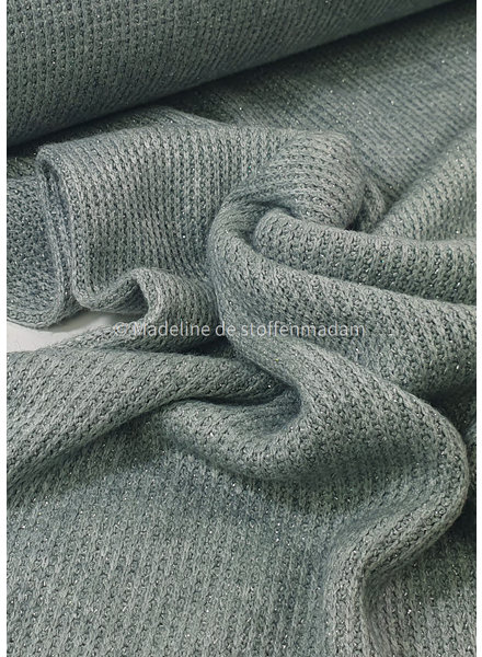 mint- soft knitted viscose jacquard with lurex