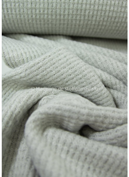 mint - soft knitted viscose waffle structure