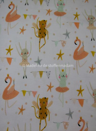 dancing animals - tricot - GOTS label