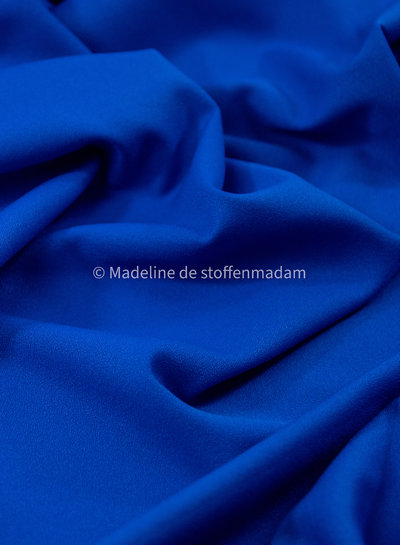 M kobalt - zomerse viscose crepe met 3% elasthan