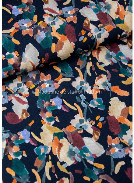 kleurrijke vlekken - viscose tricot