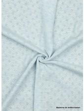 melee blauw -  ajour tricot pointelle
