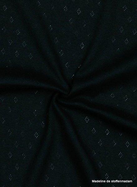 zwart -  ajour tricot pointelle