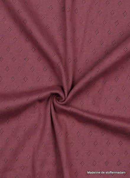 lilac -  ajour tricot pointelle