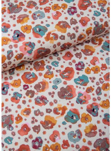 natuurlijke gekleurde bloemen - tricot GOTS
