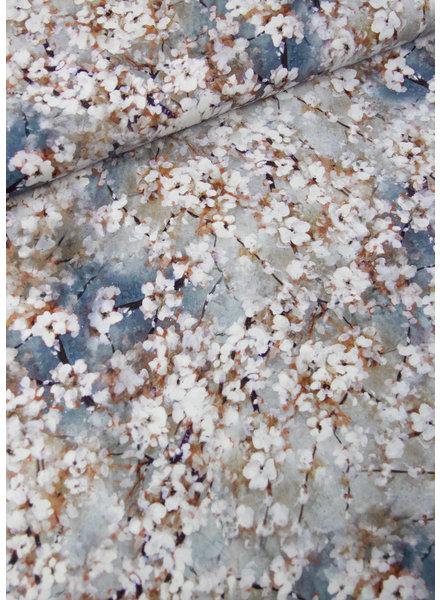 M lichtblauw lentebloesem - viscose