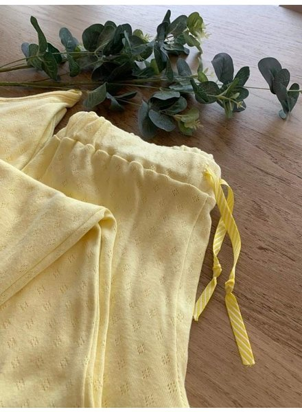 chartreuse yellow - ajour tricot pointelle