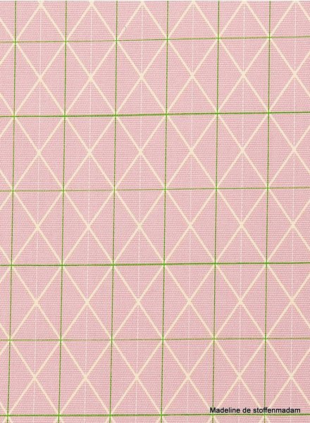 grid neon lines - beautiful firm canvas fabric