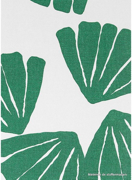 green fan leaves - beautiful firm canvas fabric
