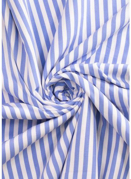 Fibremood Paulette - blauw strepen - viscose
