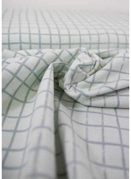 grid licht mint groen - tricot