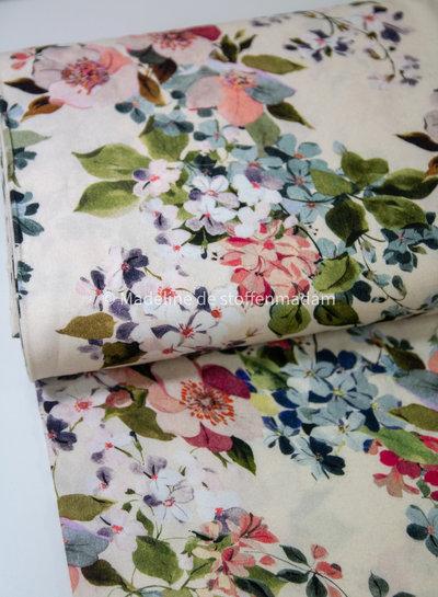 Fibremood creme gekleurde bloemen - viscose