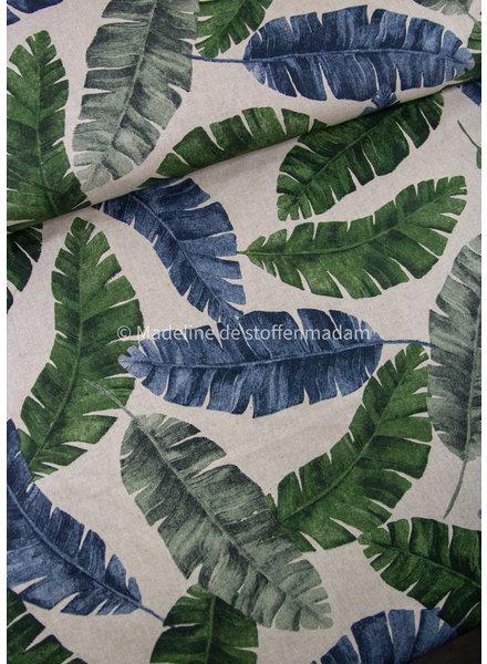 banana leaves - linen look canvas