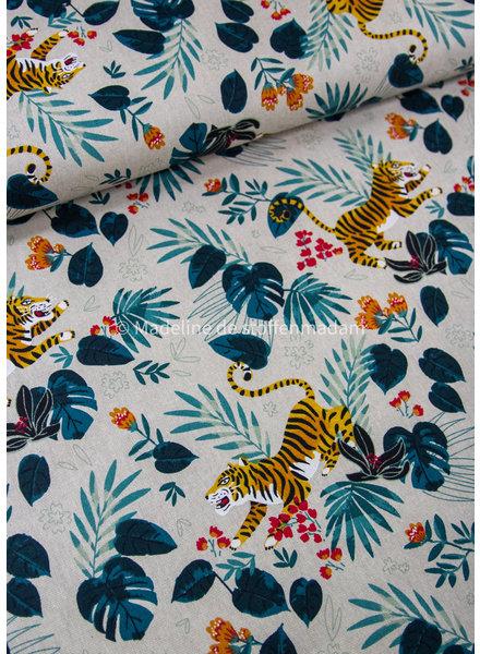 speelse tijger - linnen look canvas