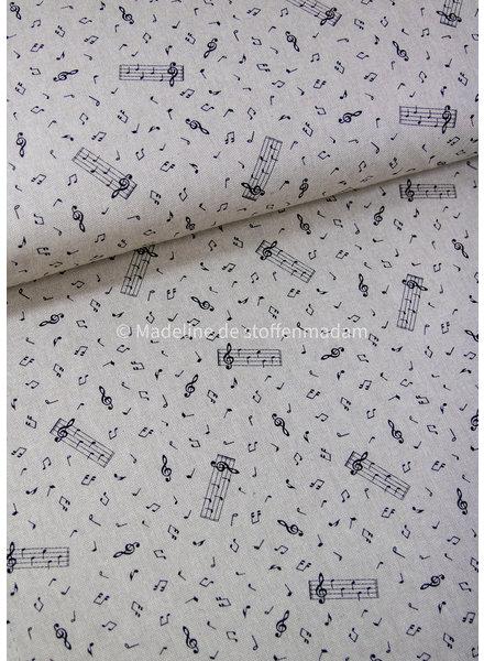 musical notes - canvas linen canvas