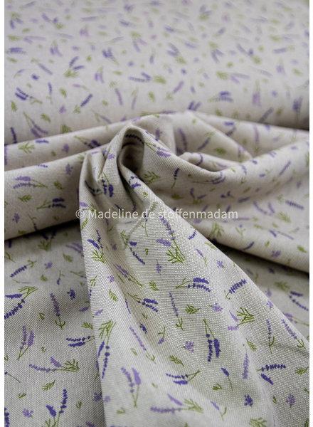 lavendel - linen look canvas