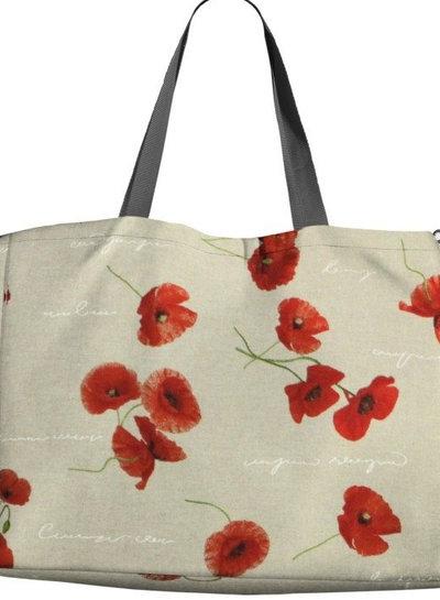 poppies - linen look canvas