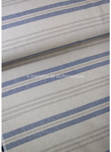 Riviere stripes - linen look canvas