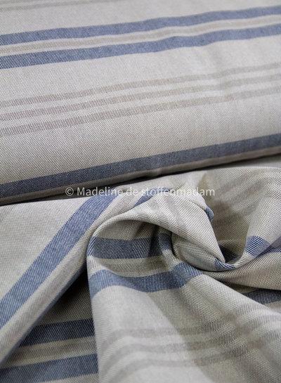Riviere stripes - linen look canvas
