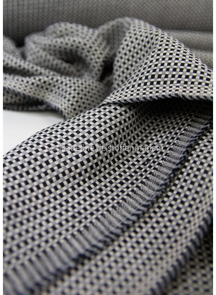 zwart - mooie soepele en hele zachte canvas - dobby square