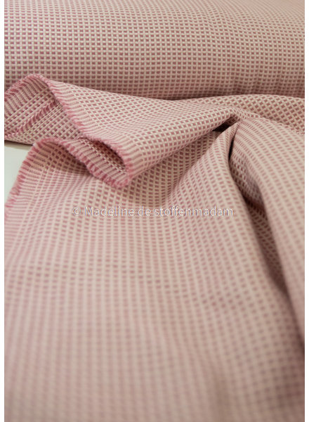 pink - supple and soft canvas fabric- dobby square