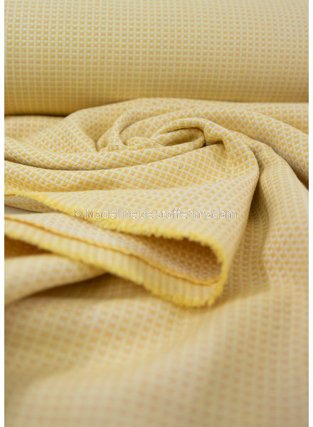 warm yellow - supple and soft canvas fabric- dobby square
