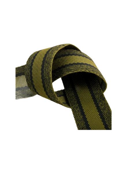khak melee striped webbing - double face  - 40 mm