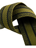 khaki melee gestreepte tassenband - double face - 40mm