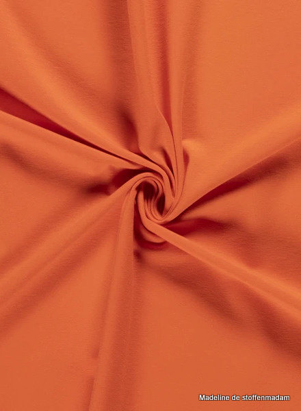 oranje - effen tricot