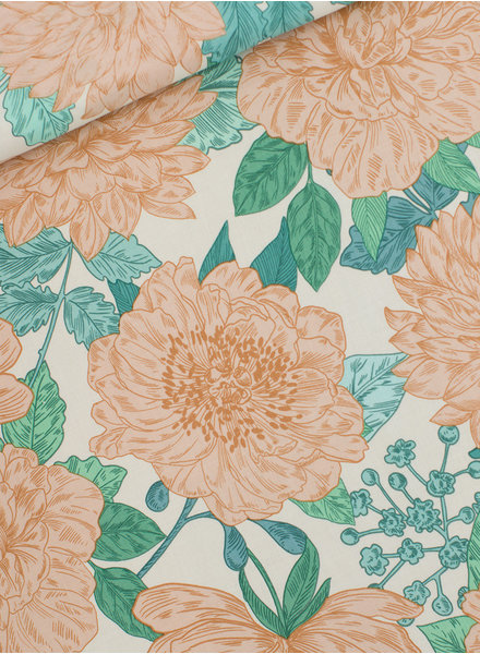 See You at Six Peonies zeezoutwit - VISCOSE