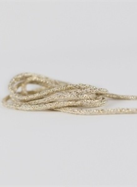 See You at Six Shoelaces - nature white with golden lurex