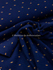 organic sunset navy - double gauze / tetra GOTS label